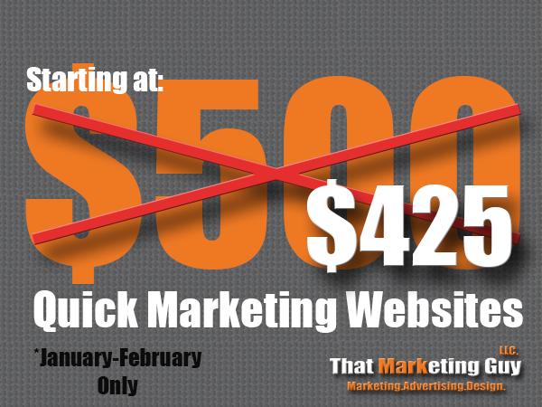 Quick $425 Website Design